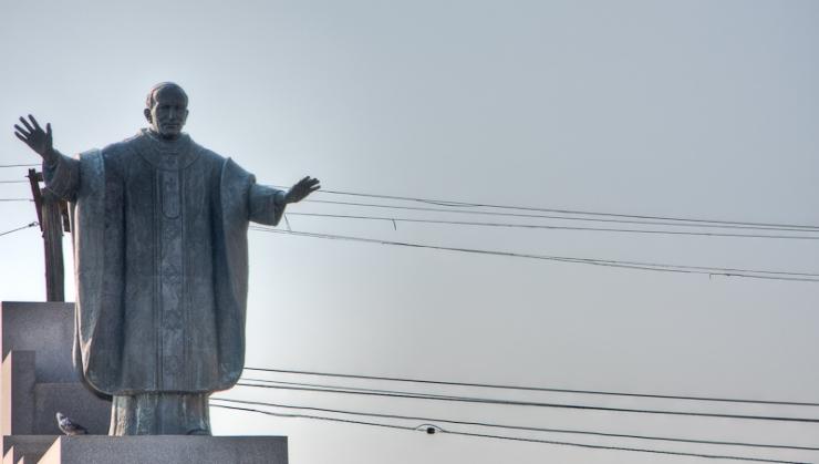 Pope john Paul II in Hamtramck, MI